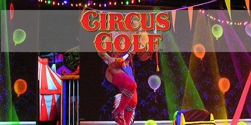 Circus Golf in Blacklight 3D